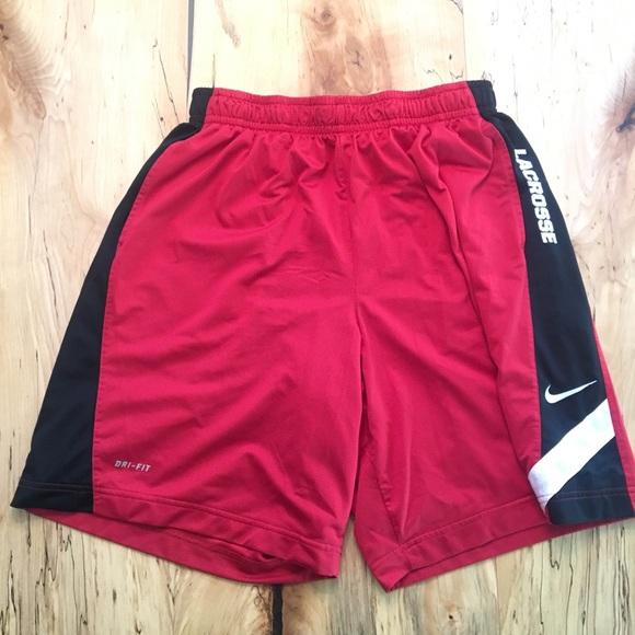 Nike Other - Men's Nike Dri-Fit Lacrosse Shorts XL Red / White